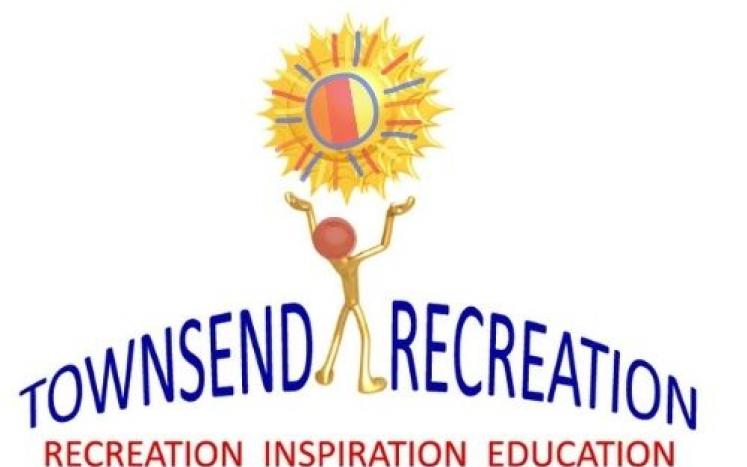 Logo for Townsend Recreation Department with an image of the sun.